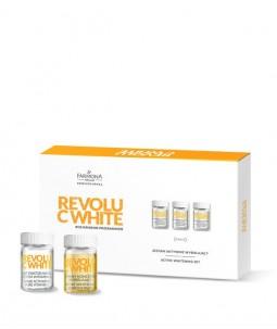 REVOLU C WHITE Aktywny zestaw wybielający 10 x 5ml, 10 x 2g, 10 x 12ml